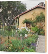 Carmel Mission With Path Wood Print