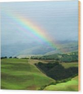 Carmel Valley Rainbow Wood Print