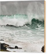 Carmel Wave Rock Wood Print
