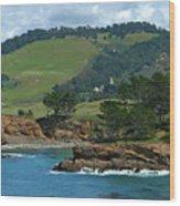 Carmelite Monastery Near Point Lobos Wood Print