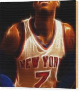Carmelo Anthony - New York Nicks - Basketball - Mello Wood Print by Lee Dos Santos