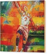 Carmelo Anthony New York Knicks Wood Print by Leland Castro