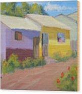Carmens Casa Wood Print