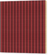 Carmine Red Striped Pattern Design Wood Print