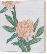 Carnation Flower Wood Print
