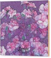 Carnation Inspired Art Wood Print