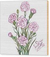 Carnation Pink Wood Print