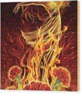 Carnation - Rebirth Wood Print