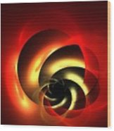Carnelian Spiral Wood Print