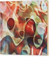 Carnevale Illusion Wood Print