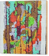 Carnevale Quilt Wood Print