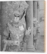 Carnevale Veneziano Wood Print