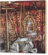 Carnival - The Carousel Wood Print