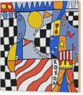 Carnival 1 Wood Print