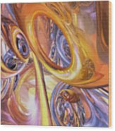 Carnival Abstract Wood Print