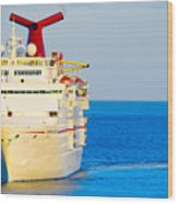 Carnival Cruise Ship Wood Print