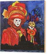 Carnival Wood Print