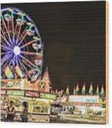carnival Fun and Food Wood Print