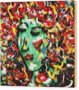 Carnival Girl Wood Print
