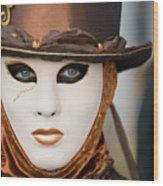 Carnival In Brown Wood Print