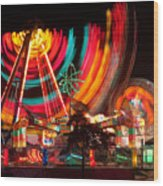 Carnival In Motion Wood Print