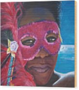 Carnival Mask 1 Wood Print