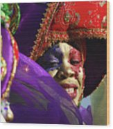 Carnival Personified Wood Print