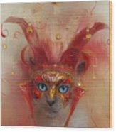 Carnival Queen Wood Print