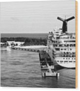 Carnival Sensation Cruise Ship - Grand Turk Island Wood Print