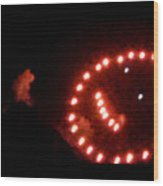 Carnival Smiley Face Wood Print