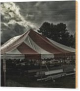 Carnival Tents Wood Print