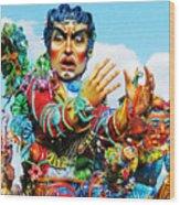Carnivale Di Sciacca Wood Print