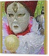 Carnivale Mask #10 Wood Print
