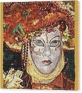 Carnivale Mask #12 Wood Print