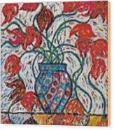 Carnivale Of Flowers Wood Print