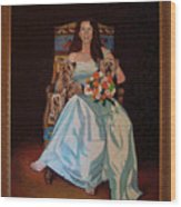 Carol Anne Clark Wife Of State Judge Of Georgia Herman Coolidge Wood Print