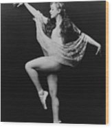 Carol Bergman, A Ziegfeld Girl Posed Wood Print