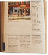 Carole Spandau Listed In  Magazin'art Biennial Guide To Canadian Artists In Galleries 2000-2001 Edit Wood Print