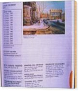 Carole Spandau Listed In Magazin'art Biennial Guide To Canadian Artists In Galleries 2002-2003 Edit Wood Print
