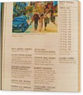 Carole Spandau Listed In Magazin'art Biennial Guide To Canadian Artists In Galleries 2006-2008 Edit Wood Print
