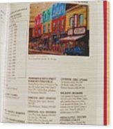 Carole Spandau Listed In Magazin'art Biennial Guide To Canadian Artists In Galleries 2009-2010 Edit Wood Print