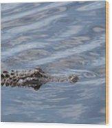 Carolina Beach Marina Alligator Wood Print