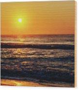 Carolina Beach Sunrise Wood Print