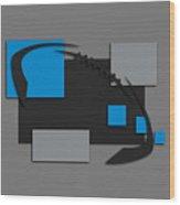 Carolina Panthers Abstract Shirt Wood Print