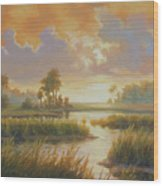Carolina Sunrise Wood Print
