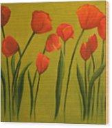 Carolina Tulips Wood Print