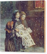 Carols For Sale  Wood Print