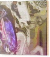 Carousel Gallop Wood Print
