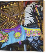 Carousel Horse 1 Wood Print