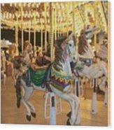 Carousel Horse 4 Wood Print